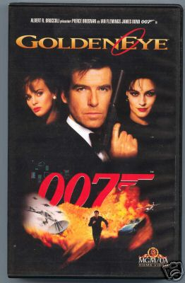 Golden Eye 007 (gebrauchte Original-VHS mit Pierce Brosnan)!