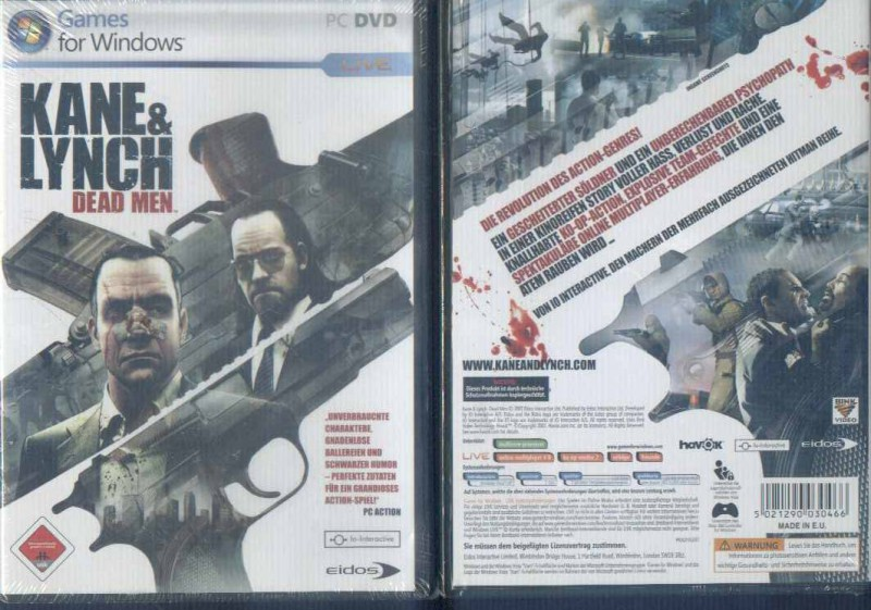 Kane&Lynch Dead Men Kane & Lynch Uncut  PC NEUWARE sealed