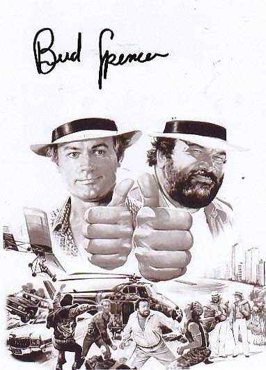 1 x original bud spencer autogramm terence hill kaufen. Black Bedroom Furniture Sets. Home Design Ideas