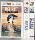 Free Willy  ( Teil 1-3 ) Warner 1994/96/98Tierfilm-Klassiker