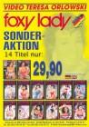 VTO -  TERESA ORLOWSKI - FOXY LADY DVD PROMOTION-FLYER