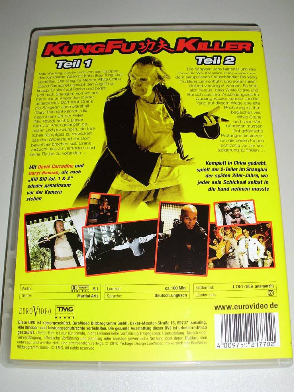 DAVID CARRADINE: Kung-Fu-Killer 1 & 2 - Sein letzter Film !