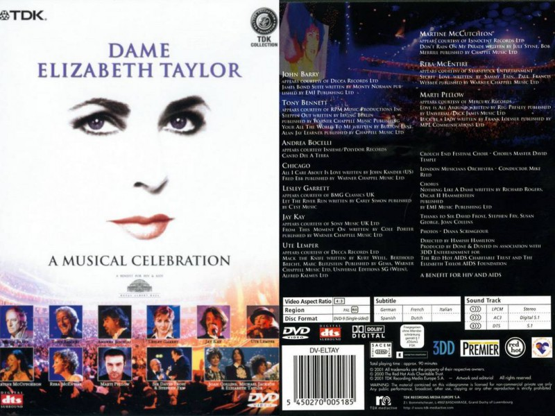 DAME ELIZABETH TAYLOR A MUSICAL CELEBRATION
