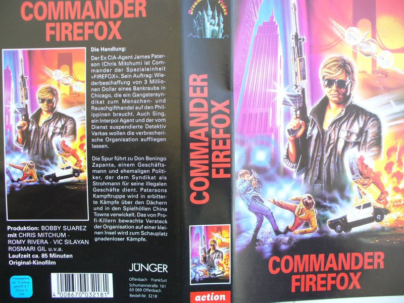 Commander Firefox ...  Chris Mitchum, Romy Rivera