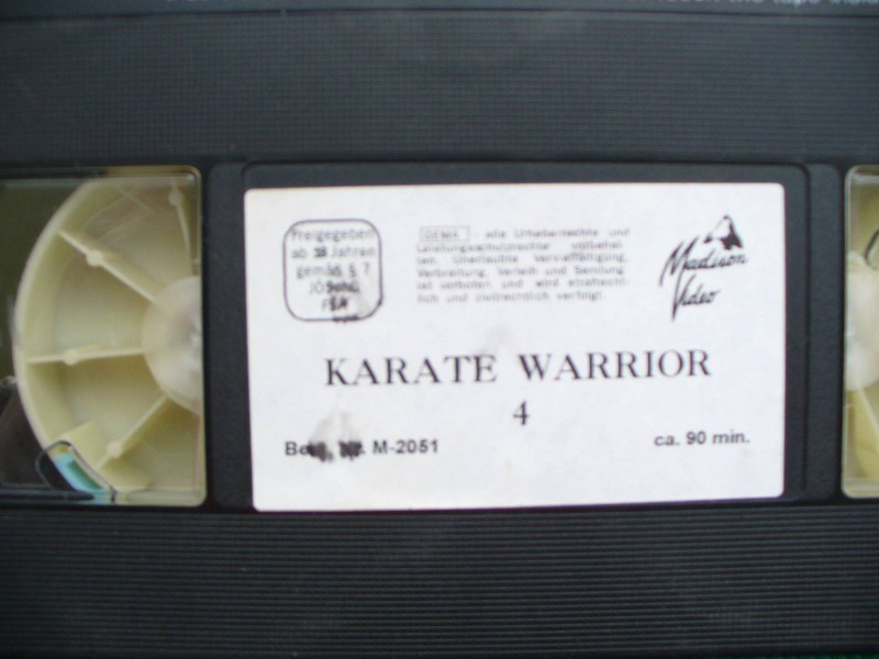 Karate Warrior 4 ... David Warbeck ...ohne Cover !... FSK 18
