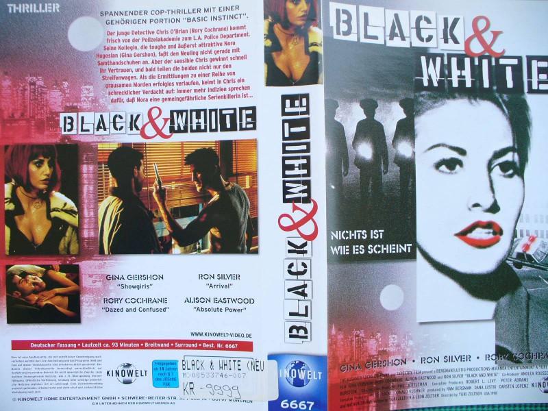 Black & White ...  Gina Gershon, Ron Silver, Rory Cochrane