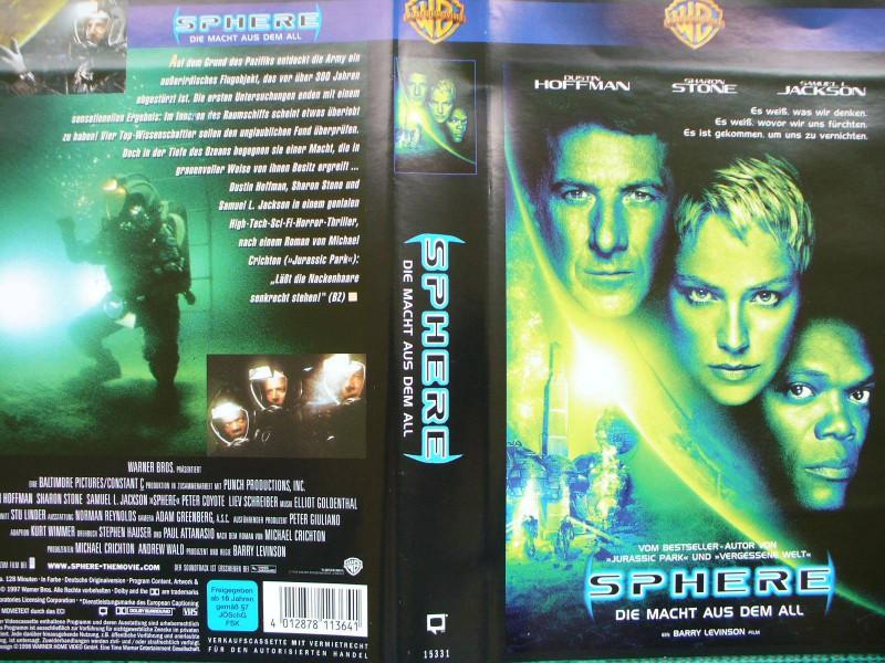 Sphere ...  Dustin Hoffman, Sharon Stone, Samuel L. Jackson
