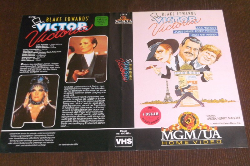 Victor Victoria (Cover/Hülle, MGM)