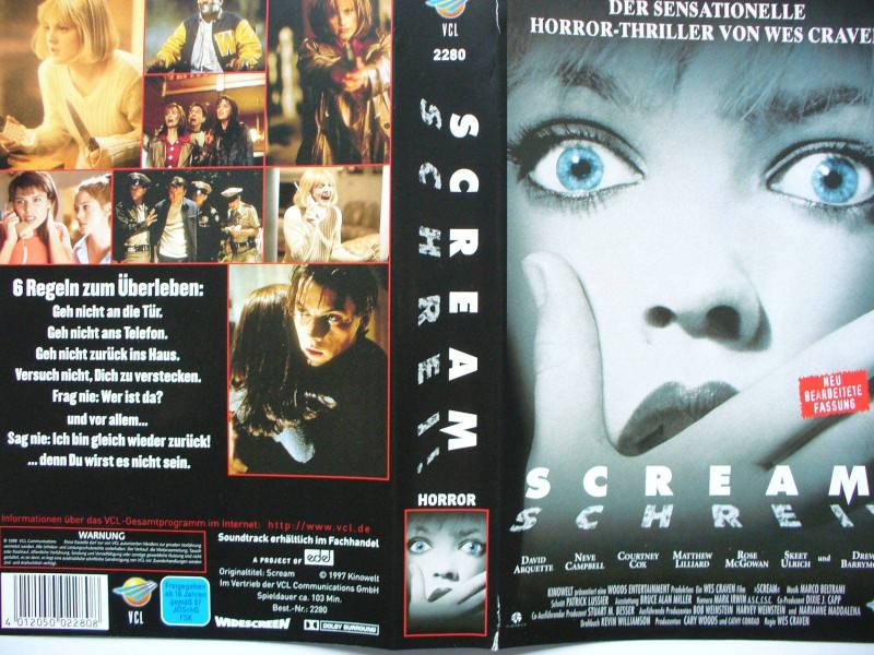 Scream ...  David Arquette, Neve Campbell ...Horror - VHS !!