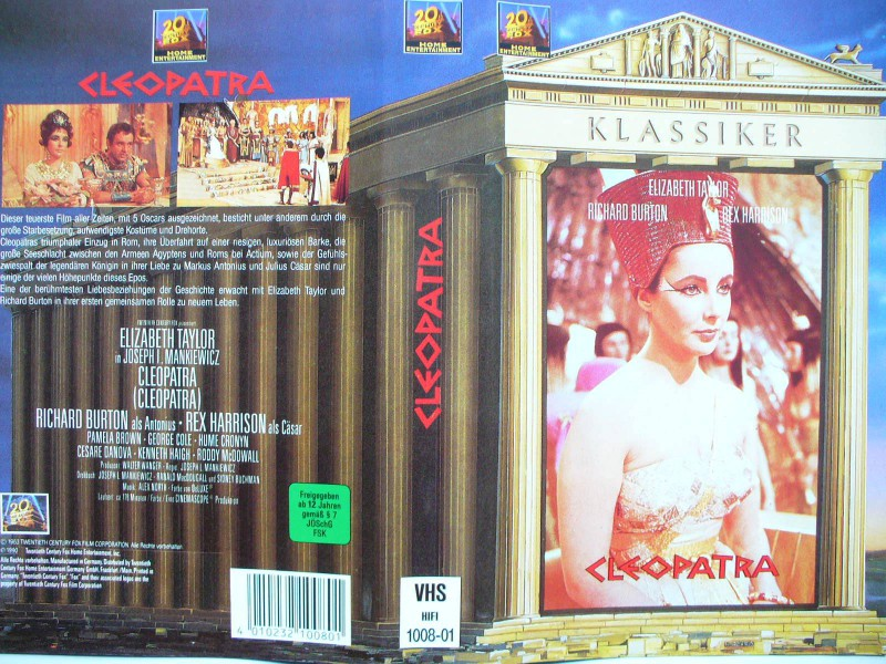 Cleopatra ...  Elizabeth Taylor, Richard Burton