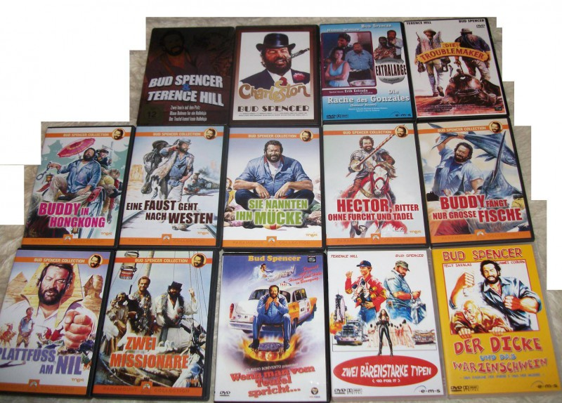bud spencer und terence hill dvd sammlung 16 filme kaufen. Black Bedroom Furniture Sets. Home Design Ideas