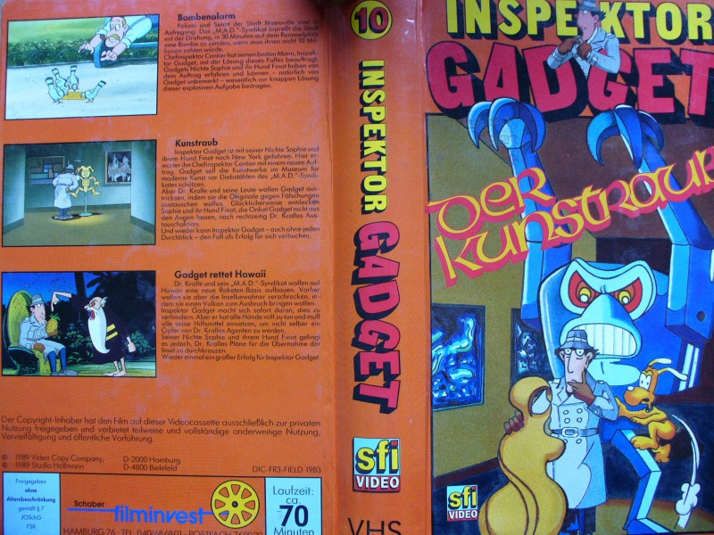 Inspektor Gadget Nr. 10  - Der Kunstraub ...  Hartcover !!