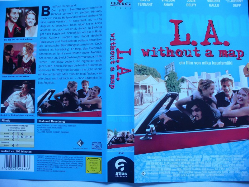 L. A. without a map ... Julie Delpy, Johnny Depp
