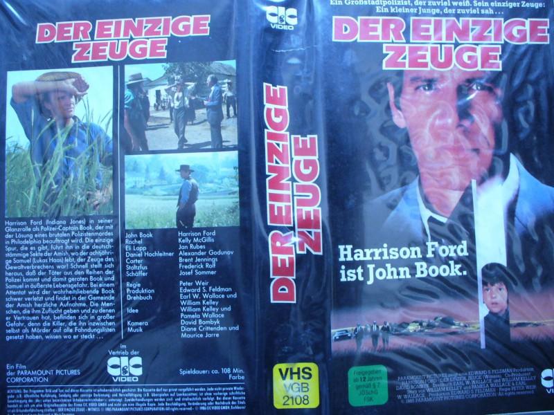 Der einzige Zeuge ... Harrison Ford, Kelly McGillis