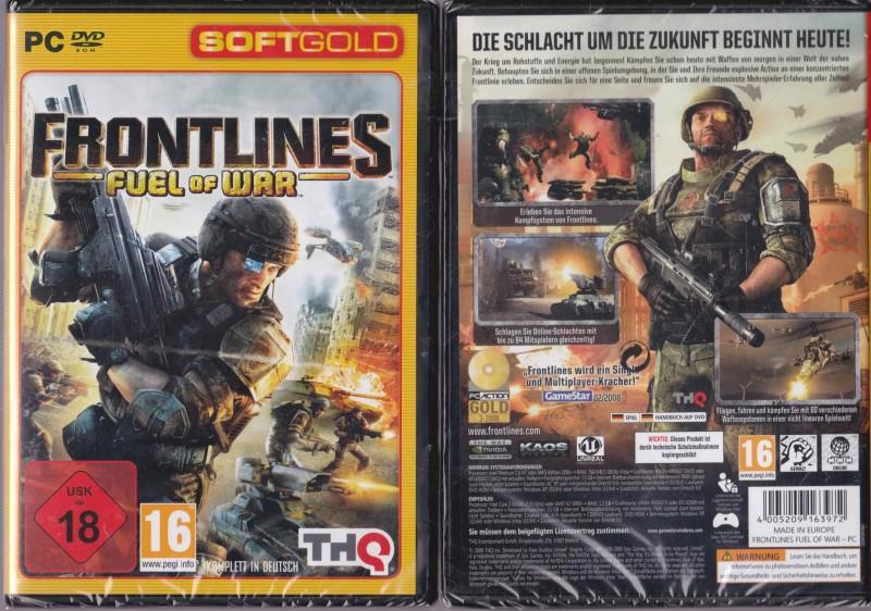 Frontlines Fuel of War PC Uncut  Neuware