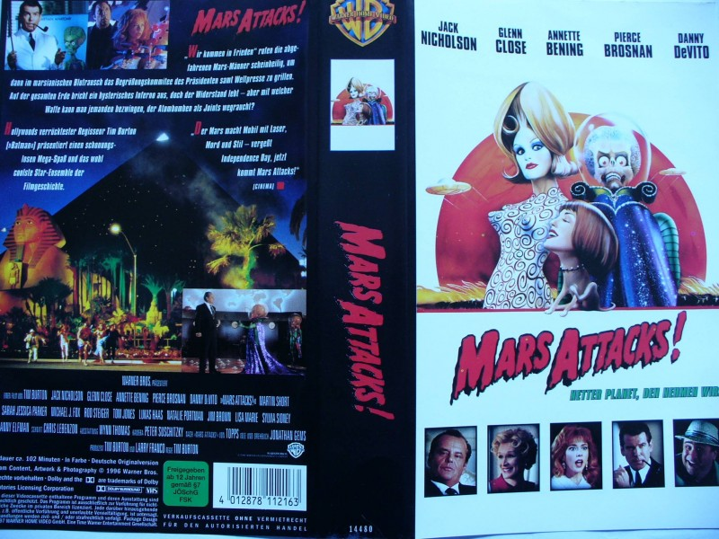 Mars Attacks ! ... Jack Nicholson, Glenn Close