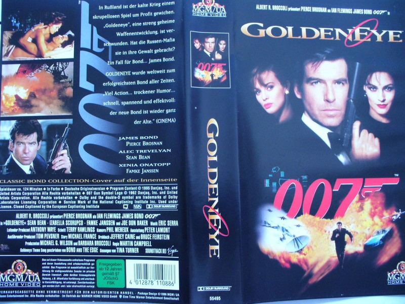 007 James Bond - Golden Eye  ... Pierce Brosnan ...  VHS !!!