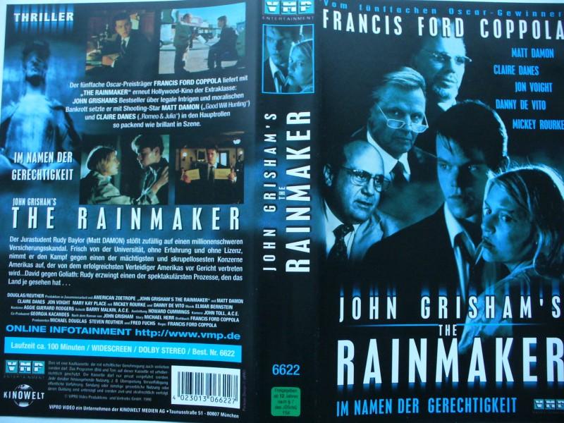 The Rainmaker  ...  Matt Damon, Claire Danes, Mickey Rourke