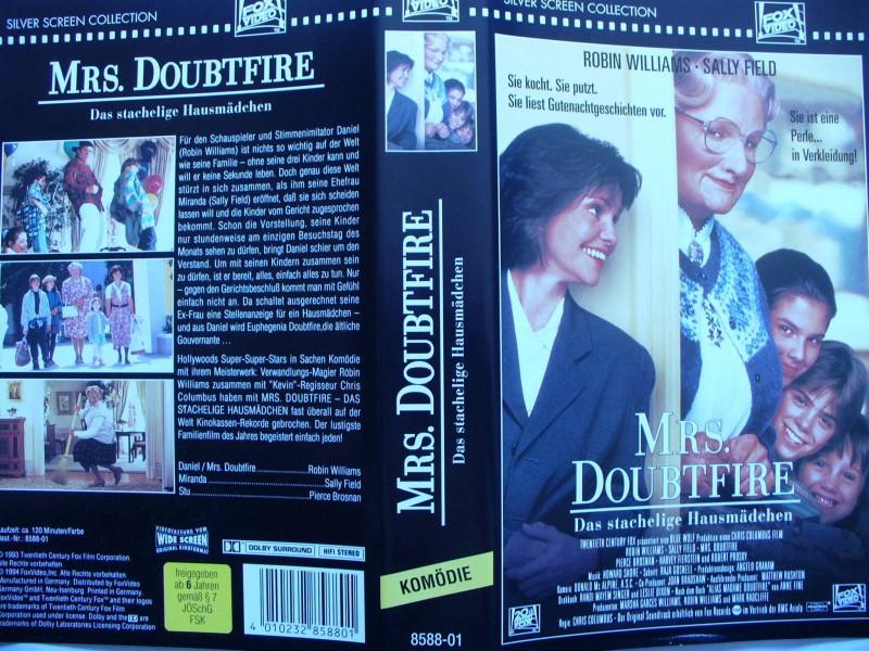 Mrs. Doubtfire ...  Robin Williams, Sally Field ...  VHS !!!