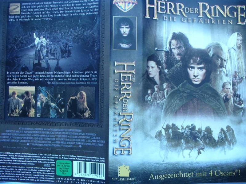 Der Herr der Ringe - Die Gefährten ...  Elijah Wood ... VHS