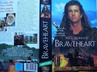 Braveheart ...  Mel Gibson, Sophie Marceau ...  VHS !!!