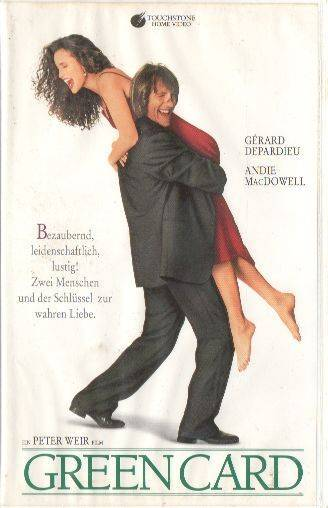 Green Card (Andie MacDowell) PAL Touchstone VHS (#08)