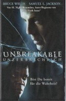 Unbreakable (Bruce Willis) PAL Touchstone VHS (#4)