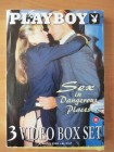 Playboy 3 Video Box Set - Sex in dangerous Places  VHS