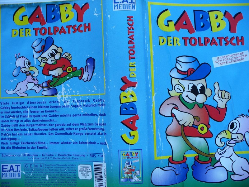 Gabby der Tolpatsch ...  Zeichentrickfilm  !!