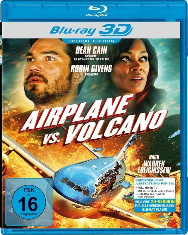 Airplane vs. Volcano [3D+2D Blu-ray] [Special Edition] OVP