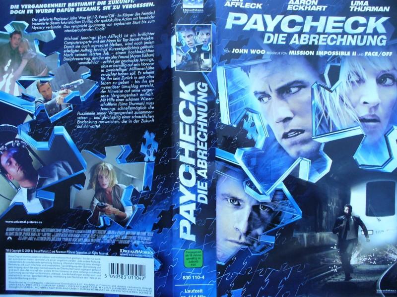 Paycheck - Die Abrechnung ... Ben Affleck, Uma Thurman