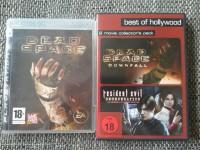DEAD SPACE  Downfall / Resident Evil  Degeneration PS3 + DVD