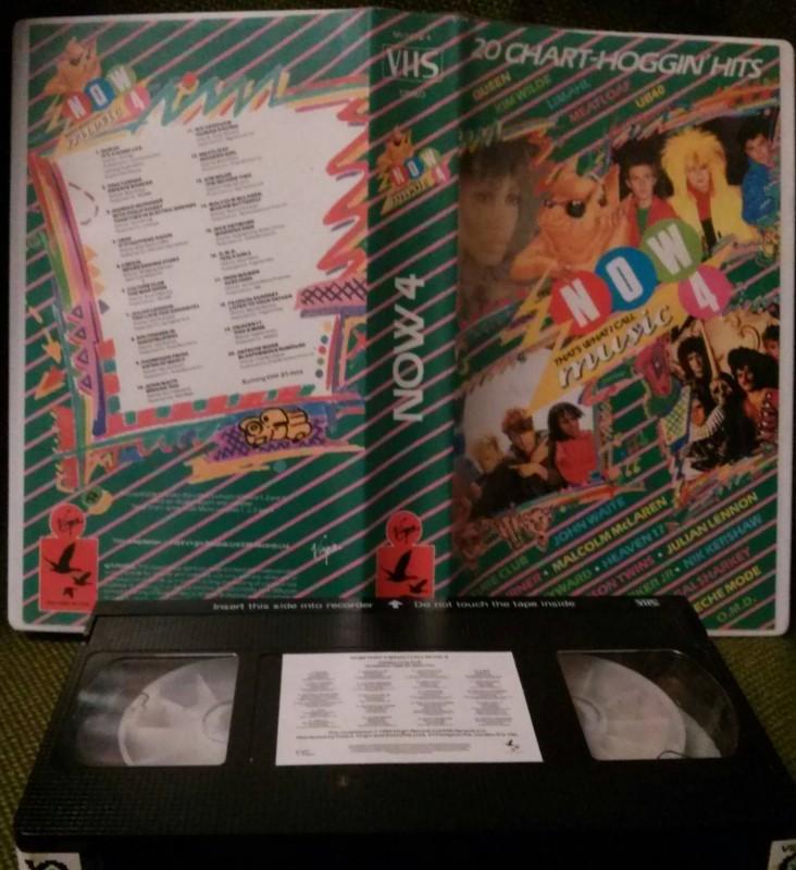 NOW 4 musikvideos 1984 Britische vhs kassette rar (D43)