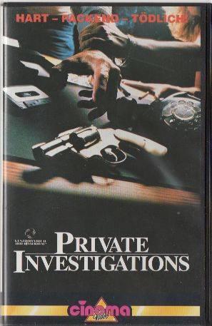 Private Investigations PAL Cinema VHS (#16)