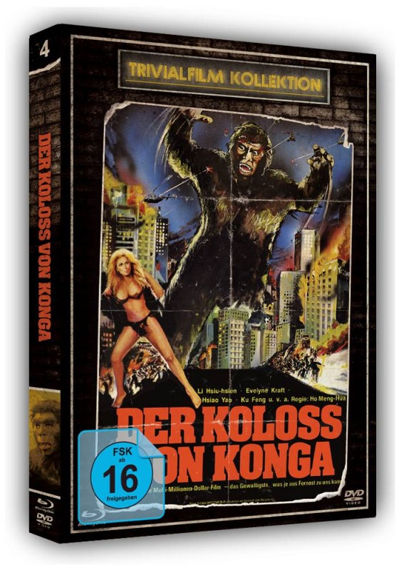 DER KOLOSS VON KONGA - Trivial #4 DVD/Blu-ray Schuber LimOVP