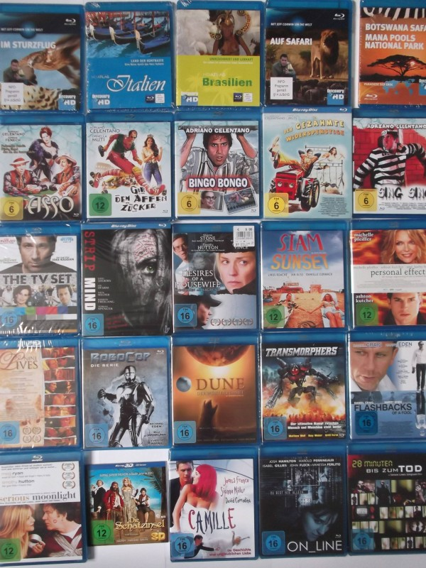 Paket Konvolut 25x Blu-Ray Sammlung - S. Stone, M. Pfeiffer