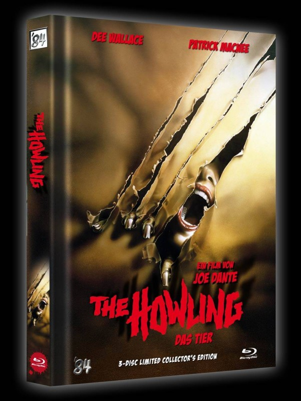 Das Tier - The Howling - Mediabook A (Blu Ray+DVD) 84 NEU