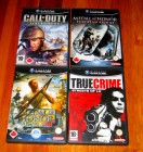 GAMECUBE - 4 TOP SPIELE - COD - TRUE CRIME LA - MoH