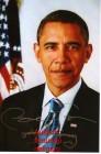 Autogrammfoto -- Barack Obama (1)  - Repro **