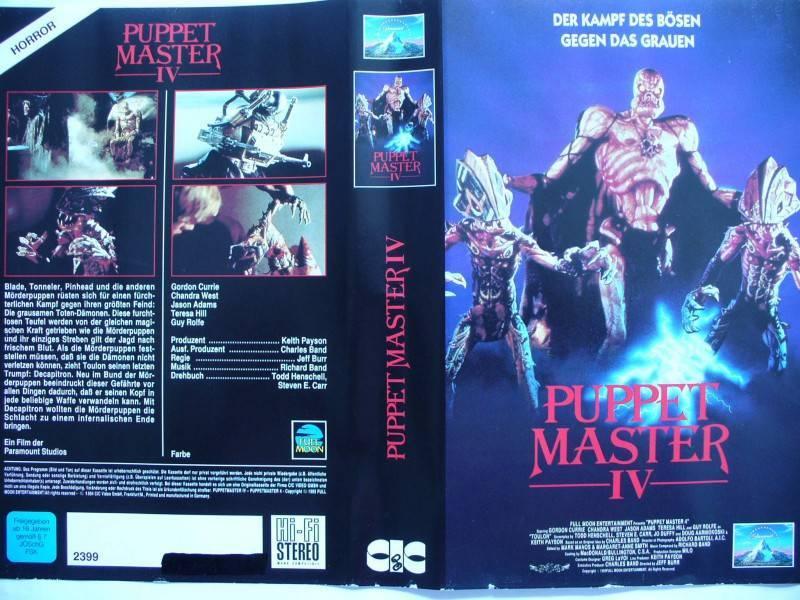 Puppet Master IV ...    Horror - VHS  !!!
