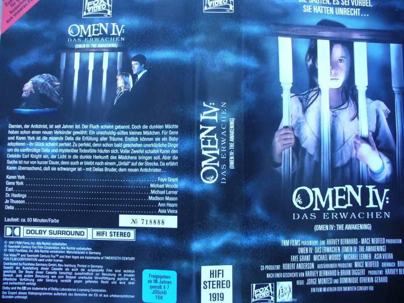 Omen IV : Das Erwachen  ...    Horror - VHS  !!!