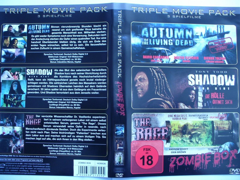 Zombie - Box  - 3  Filme ...  Horror - DVD !!! ...   FSK 18