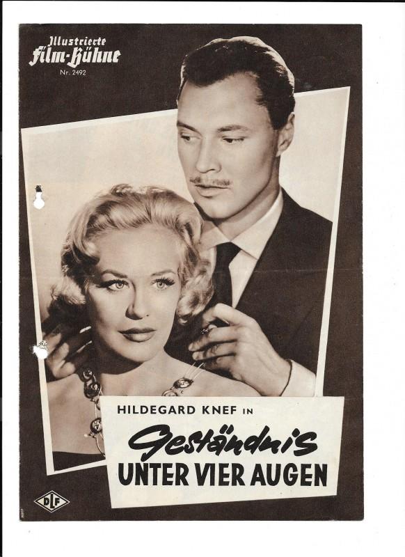GESTÄNDNIS UNTER VIER AUGEN  (Filmprogramm 097)
