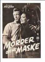 MÖRDER OHNE MASKE (Filmprogramm 100)