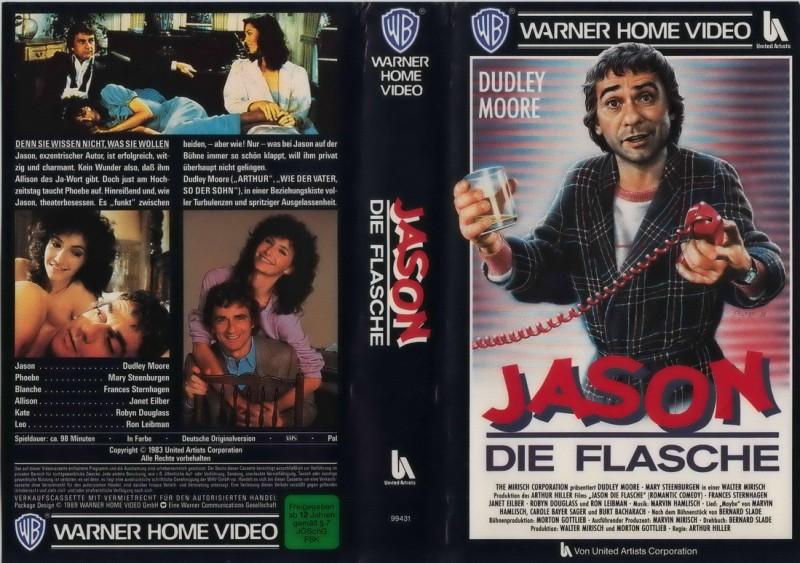 Jason, die Flasche [VHS 1983]*Dudley Moore*Love Komödie*Rar*
