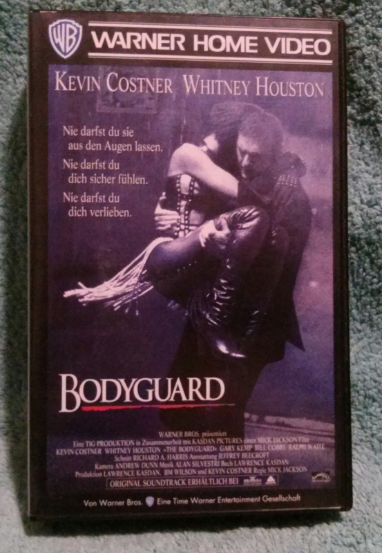 Bodyguard VHS (D01) Kevin Costner/Whitney Houston