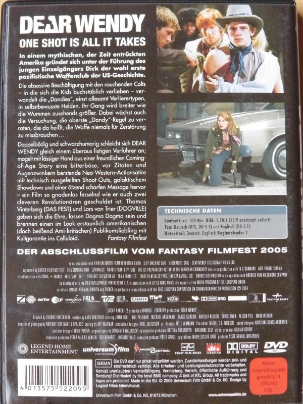 Dear Wendy  (Jamie Bell, Bill Pullman, DVD)