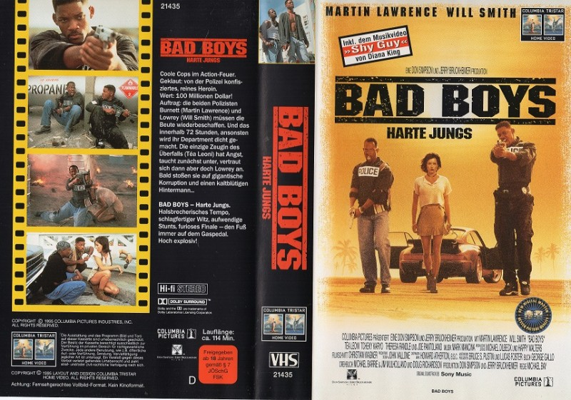 BAD BOYS - HARTE JUNGS -  gr. Cover - VHS
