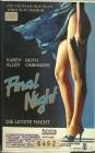 Final Night - Die letzte Nacht - Thriller - VHS