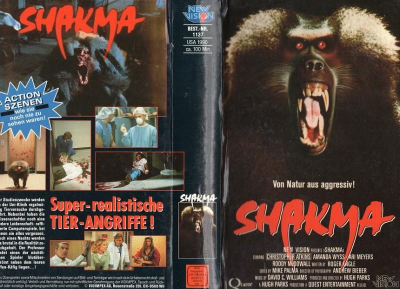 SHAKMA - Von Natur aus aggressiv !!!  - gr. HB Cover - VHS